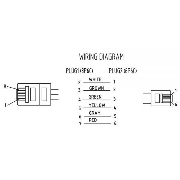 inline u00ae modularkabel  rj45 zu rj12 stecker    stecker