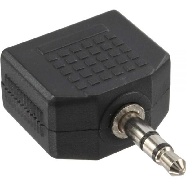inline audio adapter 3 5mm klinke stecker an 2x 3 5mm klinke buchse stereo klinke zu klinke. Black Bedroom Furniture Sets. Home Design Ideas