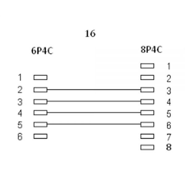 InLine® Modularkabel, RJ45 zu RJ11 Stecker / Stecker, 4adrig, 10m ...