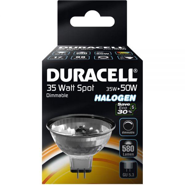duracell halogen lampe spot 3 sockel gu5 3 40w dimmbar leuchtmittel strom energie. Black Bedroom Furniture Sets. Home Design Ideas
