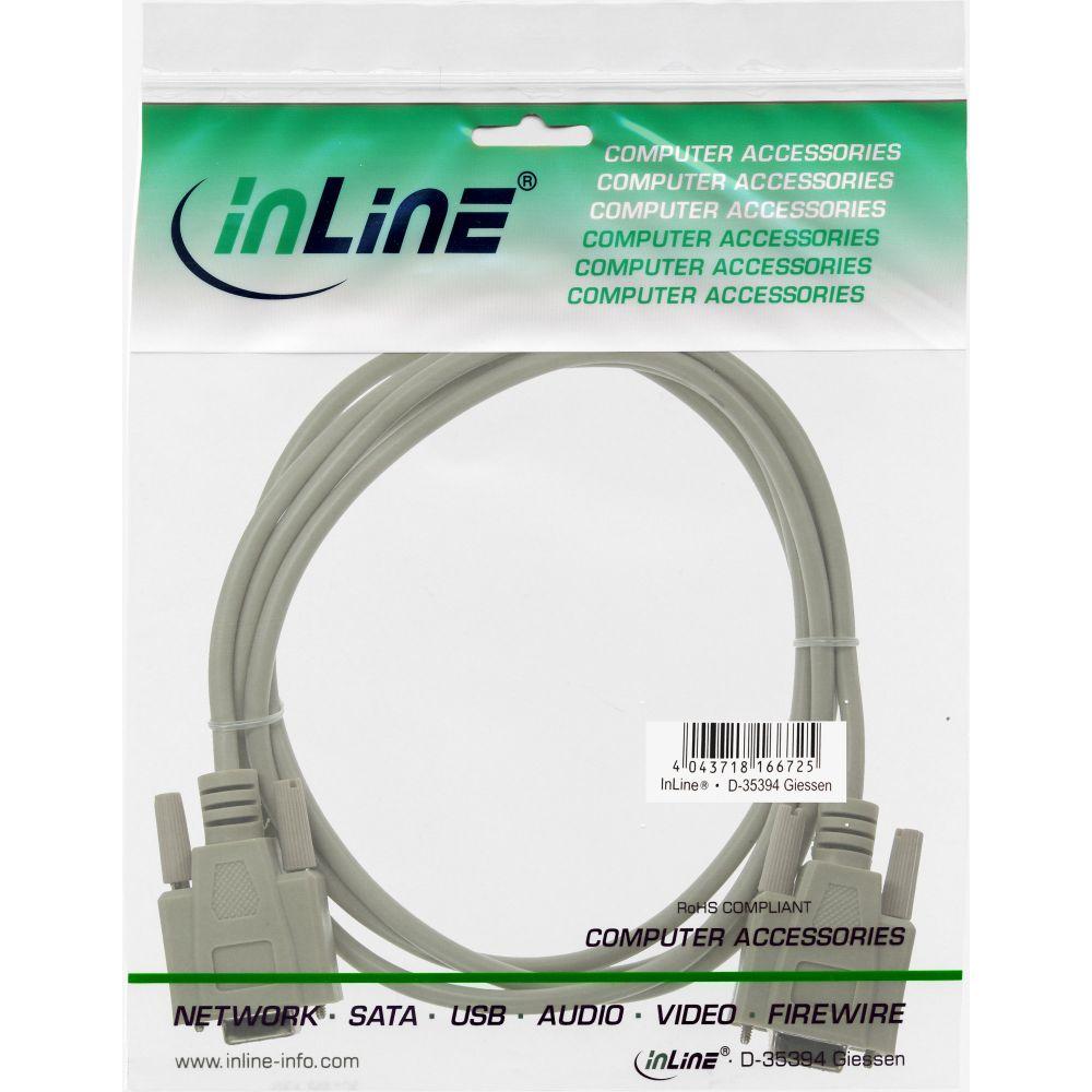 3m InLine 12224 Nullmodemkabel 9pol Buchse // Buchse vergossen